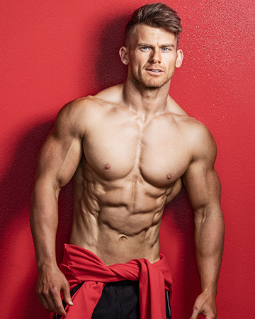 Alan B Melbourne caucasian competitive bodybuilder