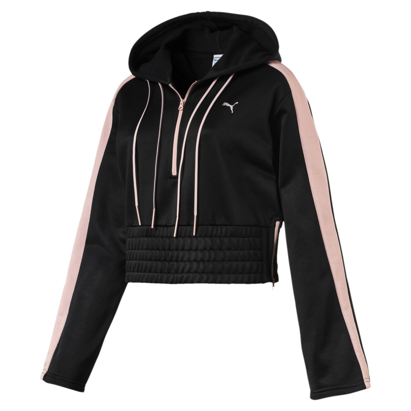 Black and pink puma sports jacket hoody