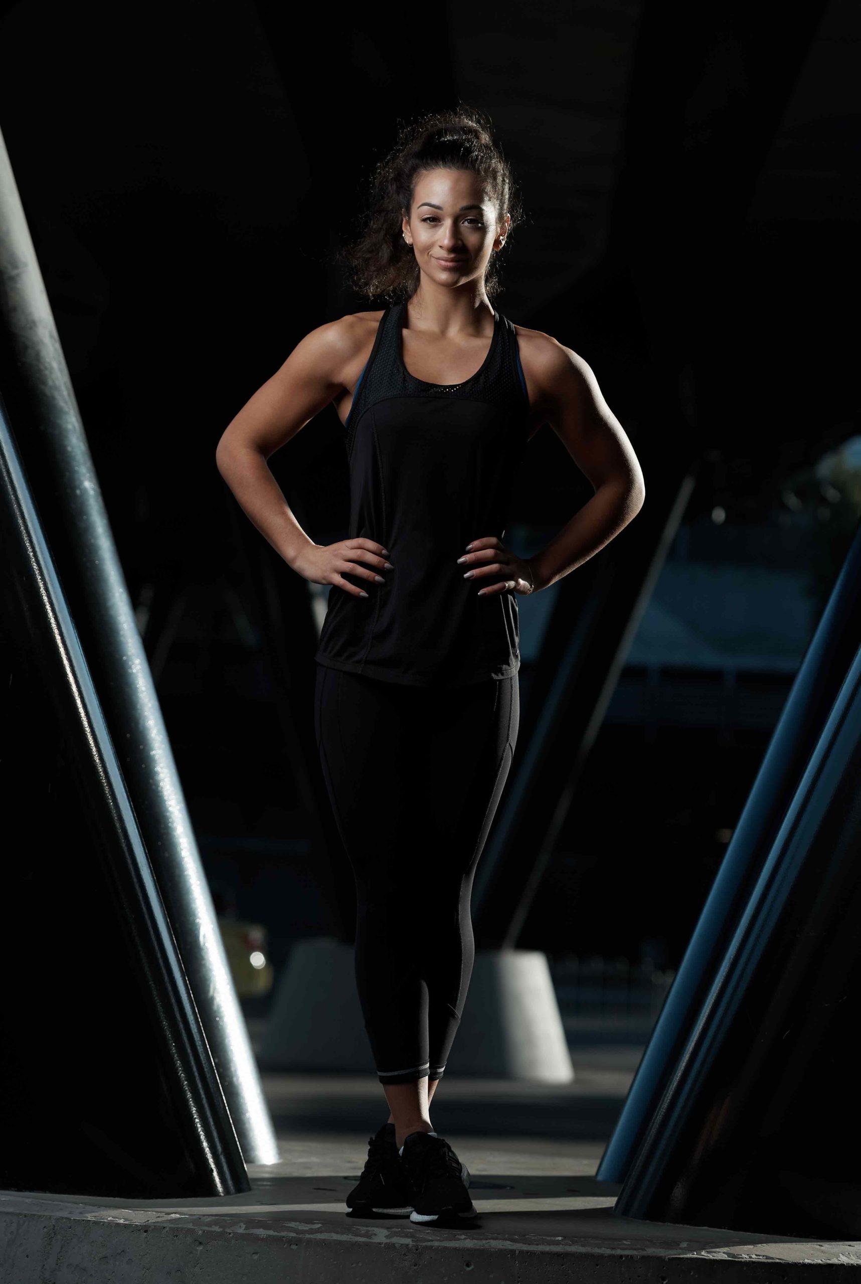 Brenice Mediterranean female fitness model in Melbourne