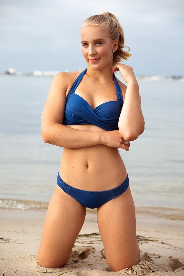 Caitlin bikini shoot at Port Melbourne's beach