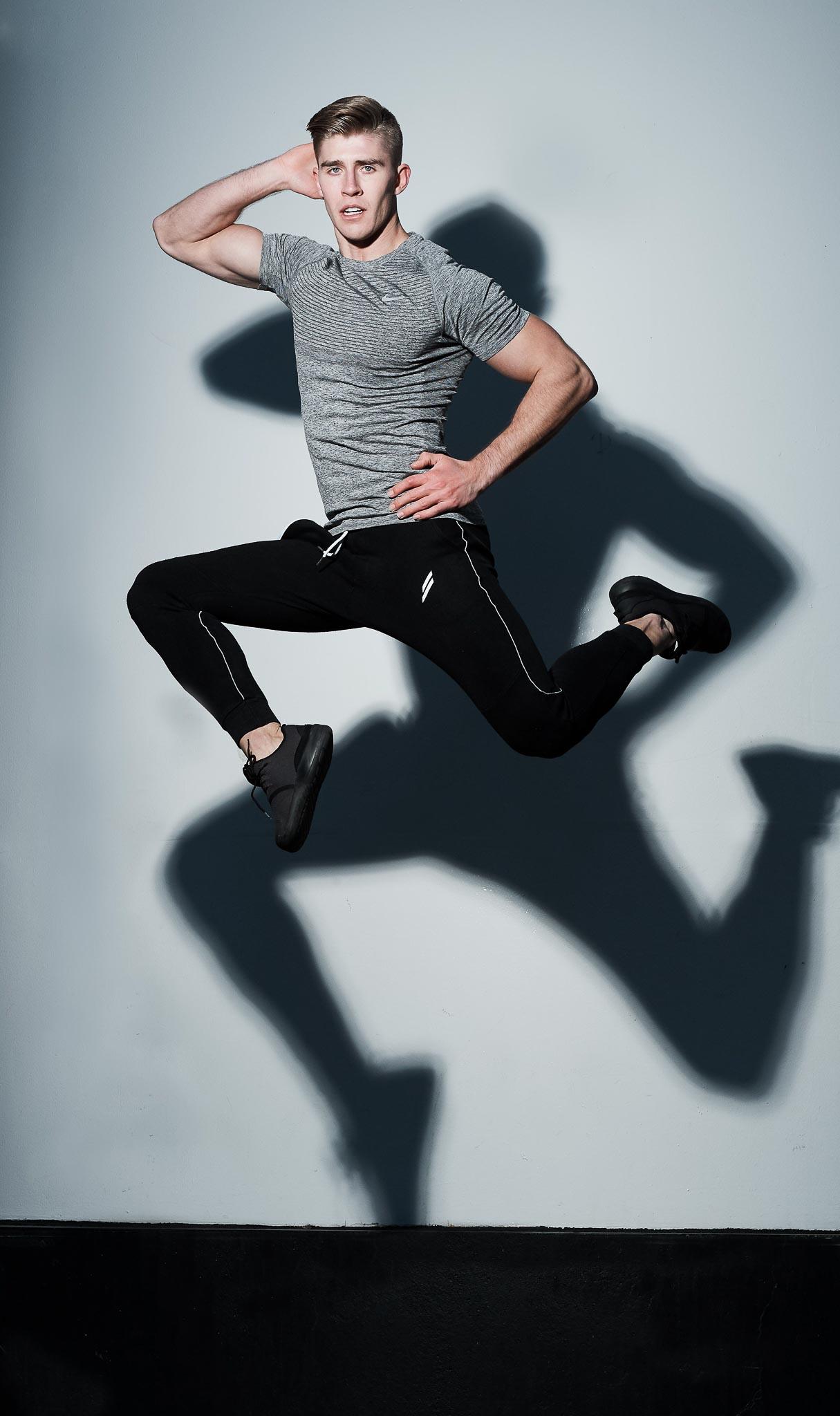Callum jumping