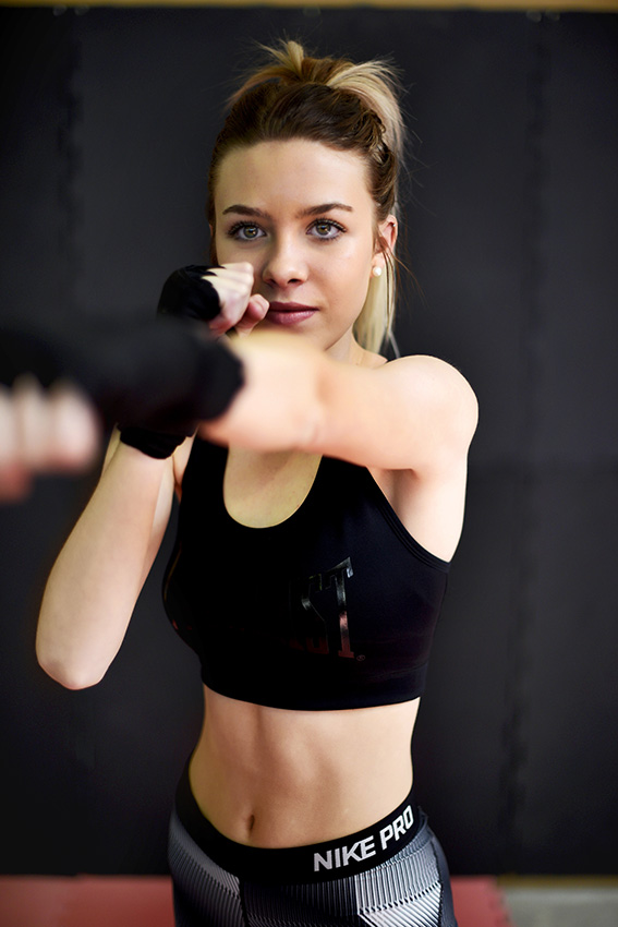 Casey boxing