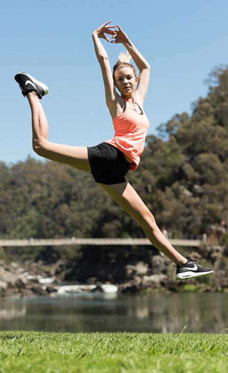 Casey jumping
