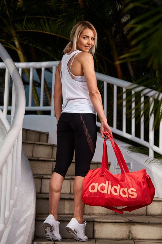 Cassandra blonde female fitness model