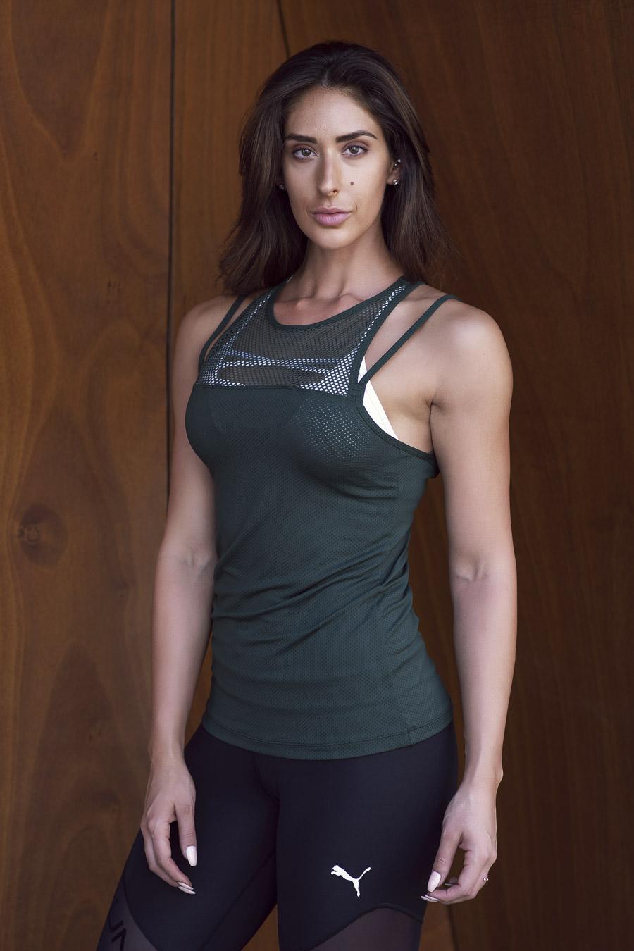 Cassie female fitness model shooting for Melbourne's fitness modelling agent