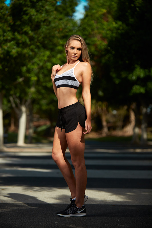 Centelle Brisbane's athletic female fitness model in Park