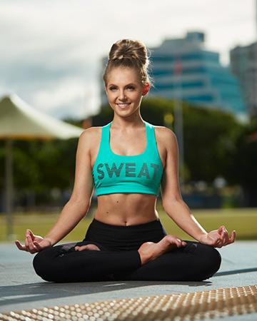 Centelle mimicking a yoga pose
