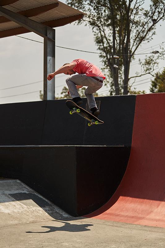 Chris getting serious air on skateboard