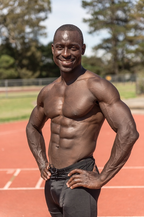 Damian Melbourne's track and field athlete
