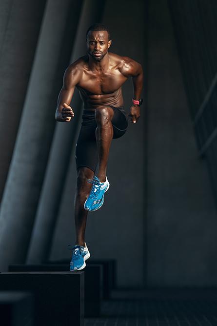 Daren L Sydney Afro-American fitness model
