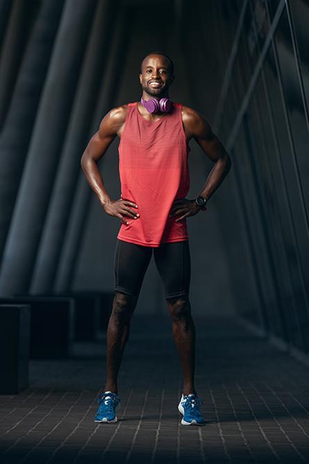 Darren L Afro-American fitness model