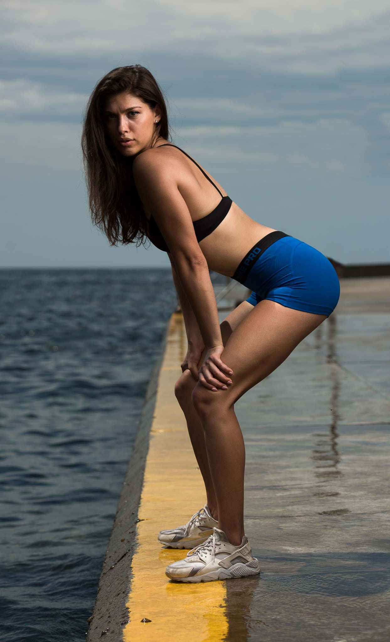 Edina Sydneys Mediterranean fitness model at Bronti beach