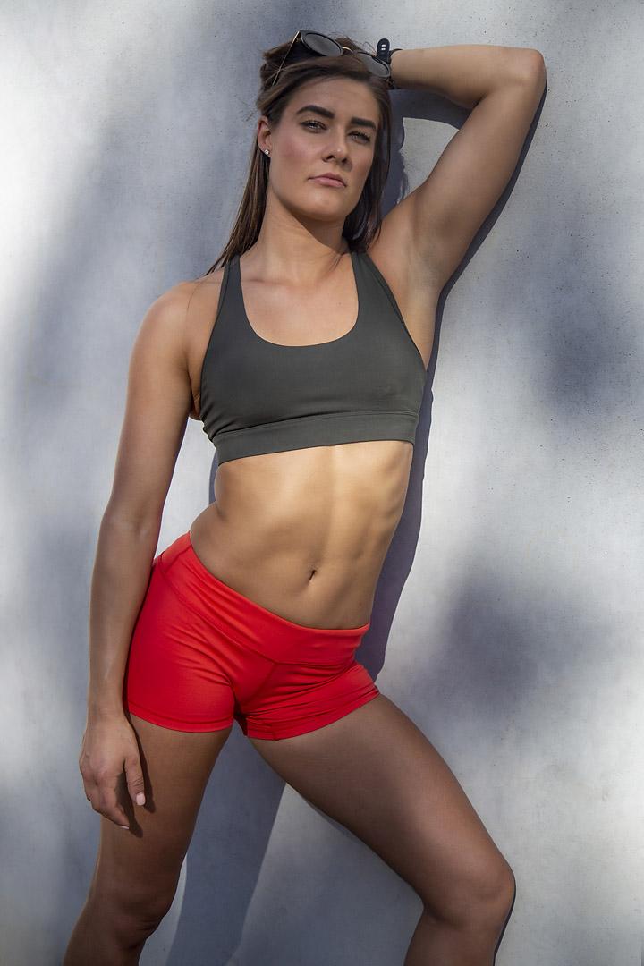 Georgia B Melbourne crossfit athlete posing in her Melbourne photo shoot