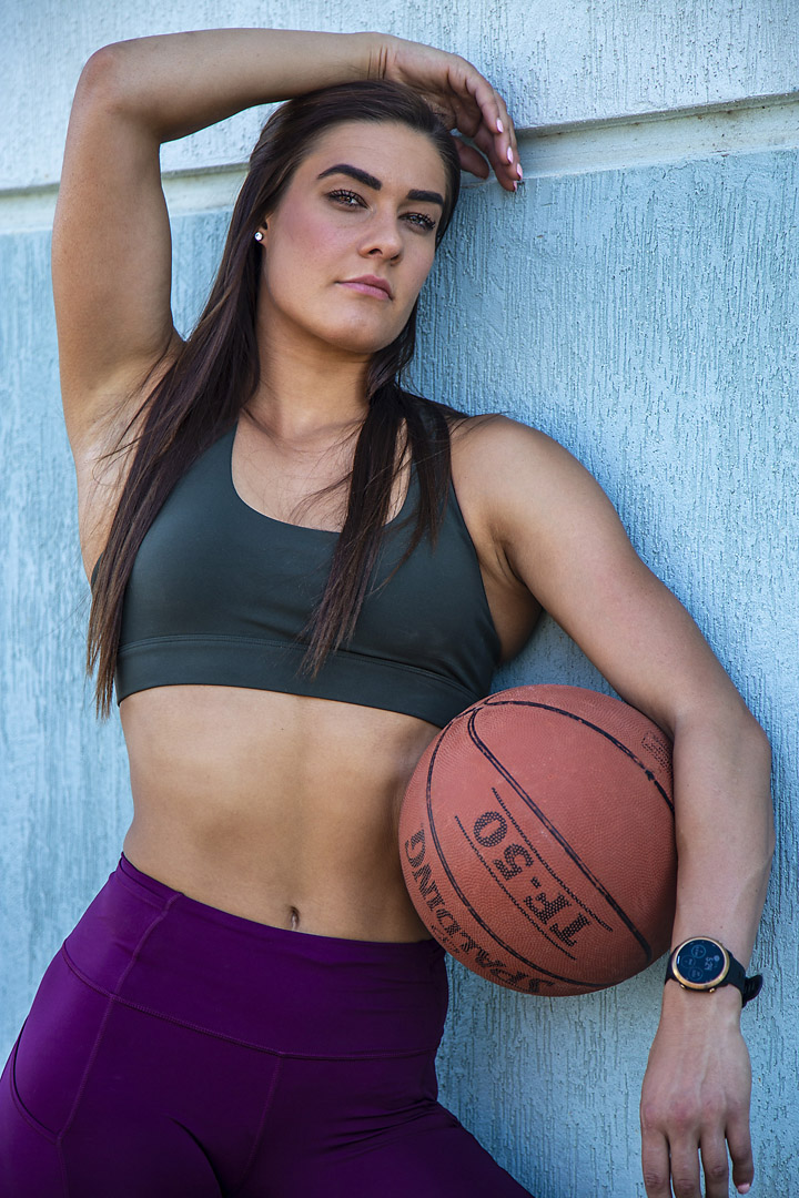 Georgia B posing with basketball