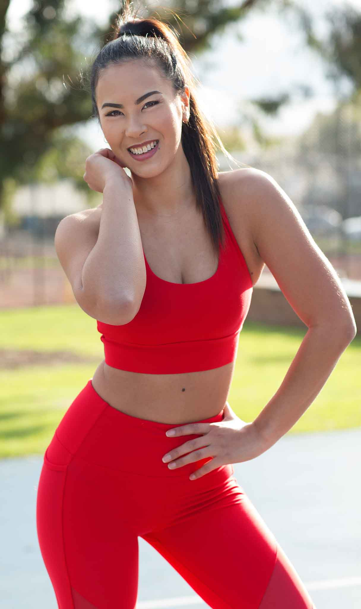 Gladysha Melbournes Asian Femail Fitness model featuring in Stop it I like it fitness shoot