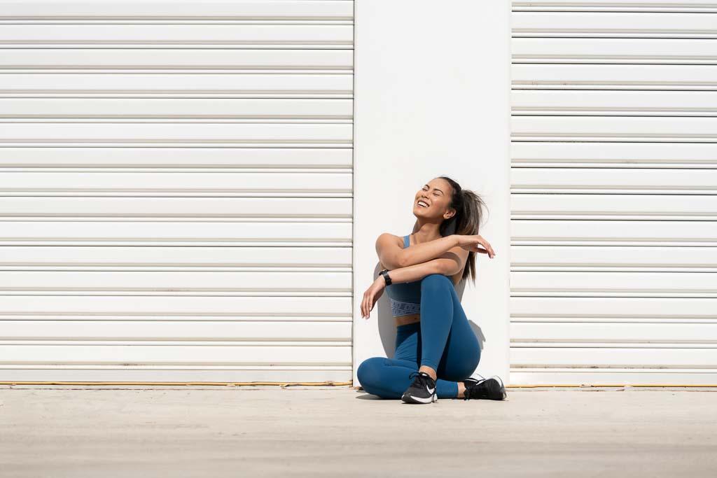 Gladysha melbounes fitness model seated