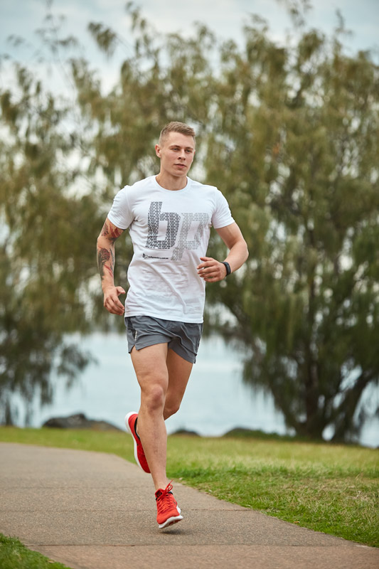Gold Coast fitness model running