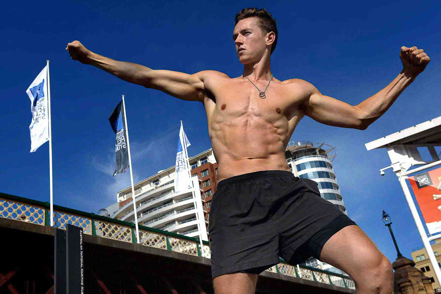 Jake Sydneys young male fitness model