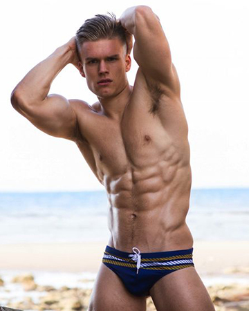 James G Melbourne's athletic male model