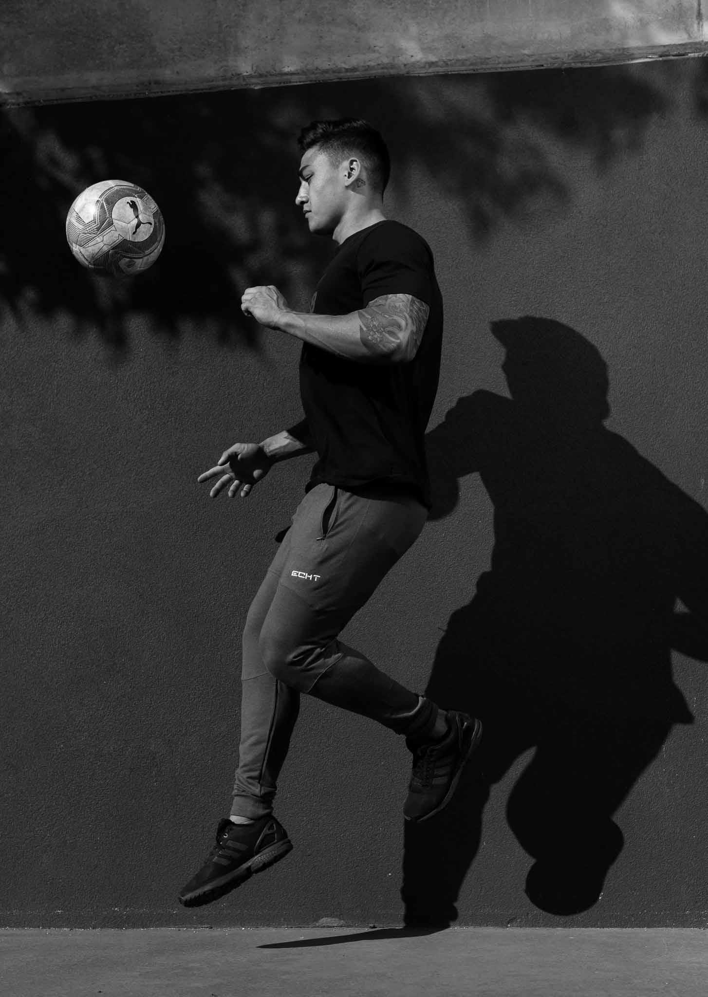 James Melbourne's Mediterranean fitness model is playing soccer skills