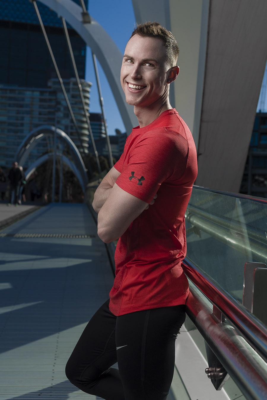 Jordan during Melbourne fitness photo shoot