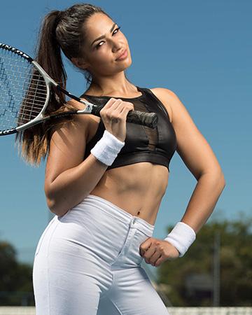 Karina Perth's anlgo Indian fitness model