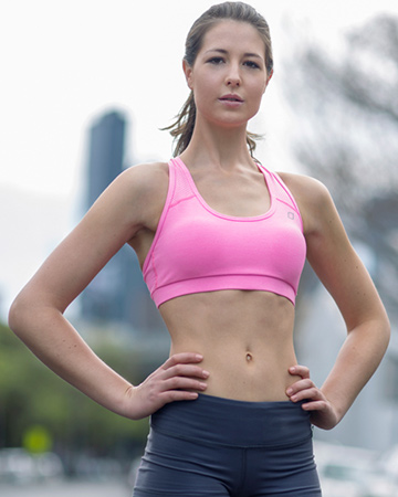 Kate B Melbourne's female athletic model