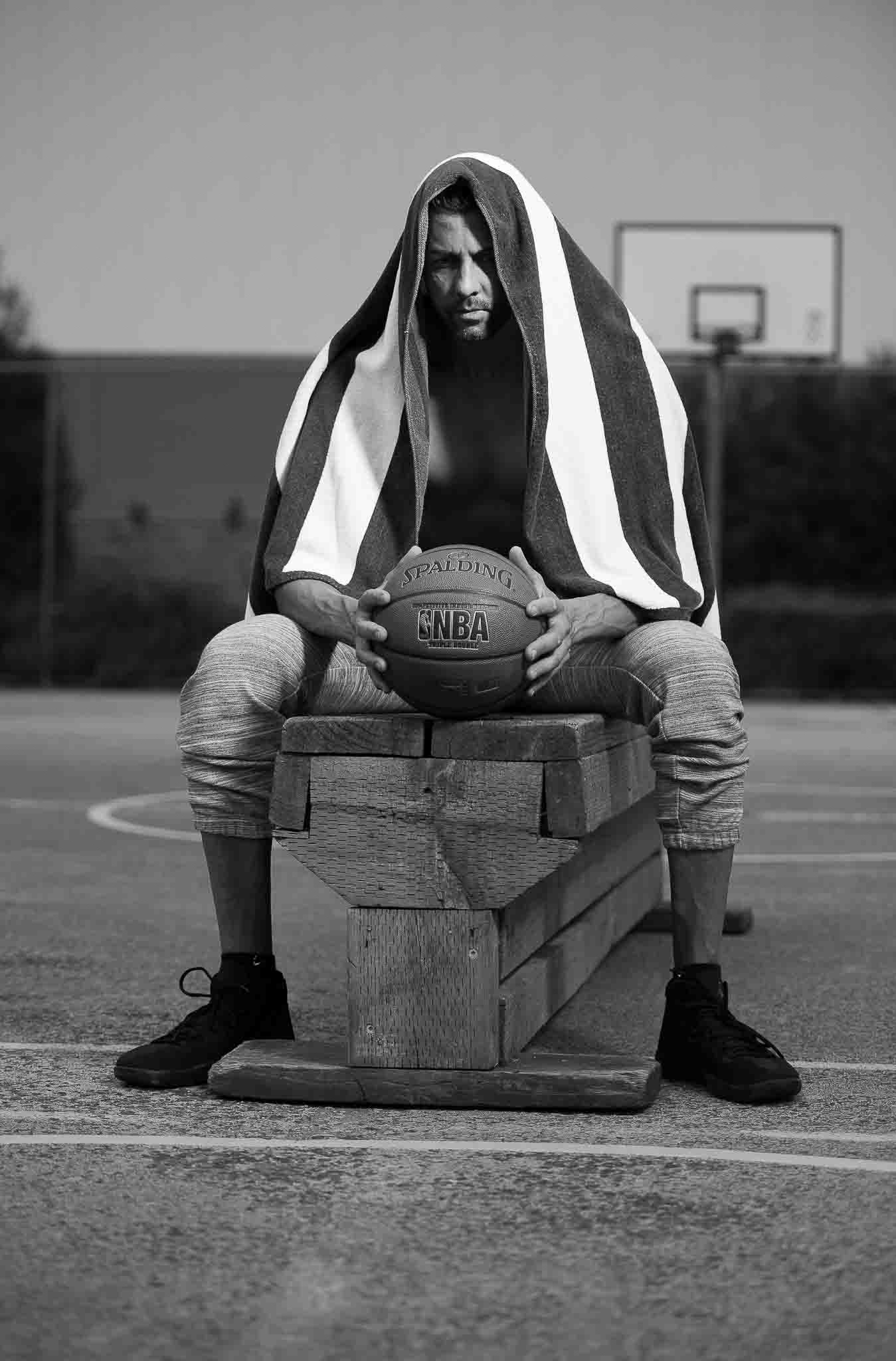 Keith Melbourne basketball player taking time out