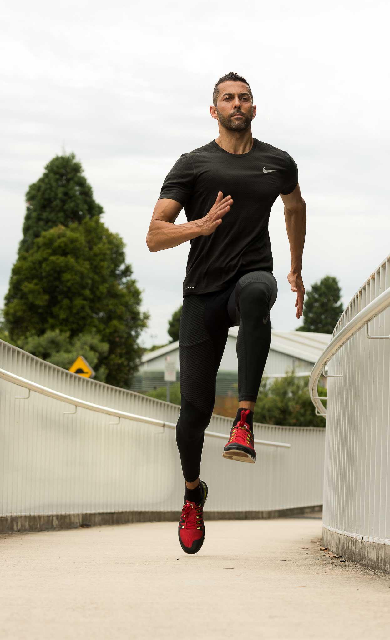 Keith sprinting