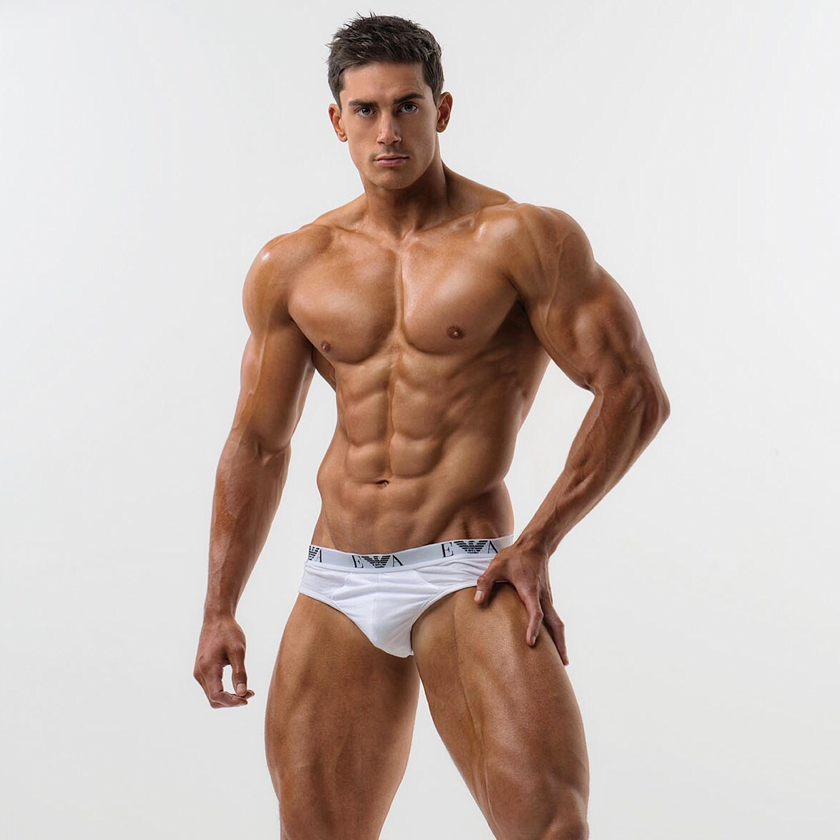 Martin S Sydneys' fitness model during his Armani underwear campaign