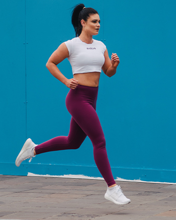 Megan Victorias young female fitness model running