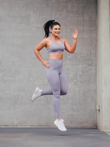 Megan jumping gracefully