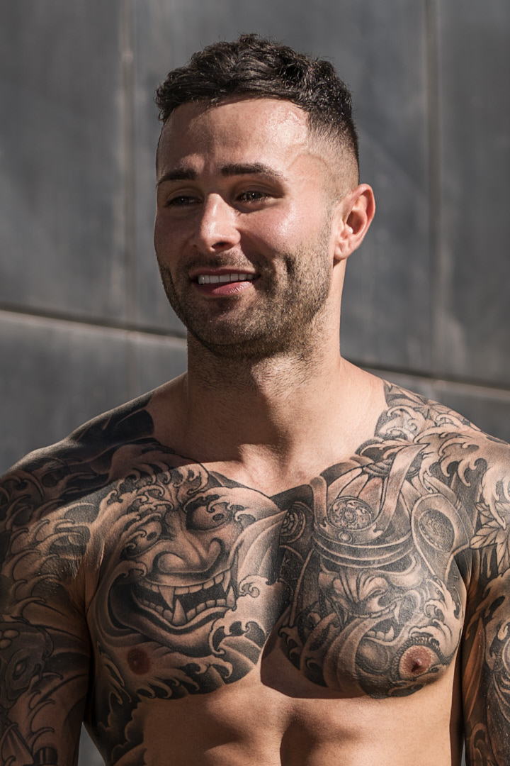 Nathan Sydneys tattooed model