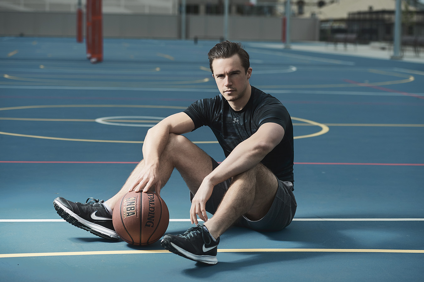 Neal on basketball court