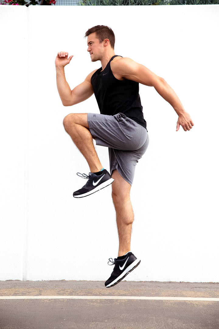 Neal sprinting