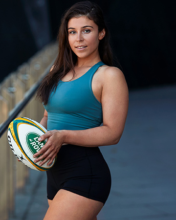 Nicole K Melbourne's female rugby star