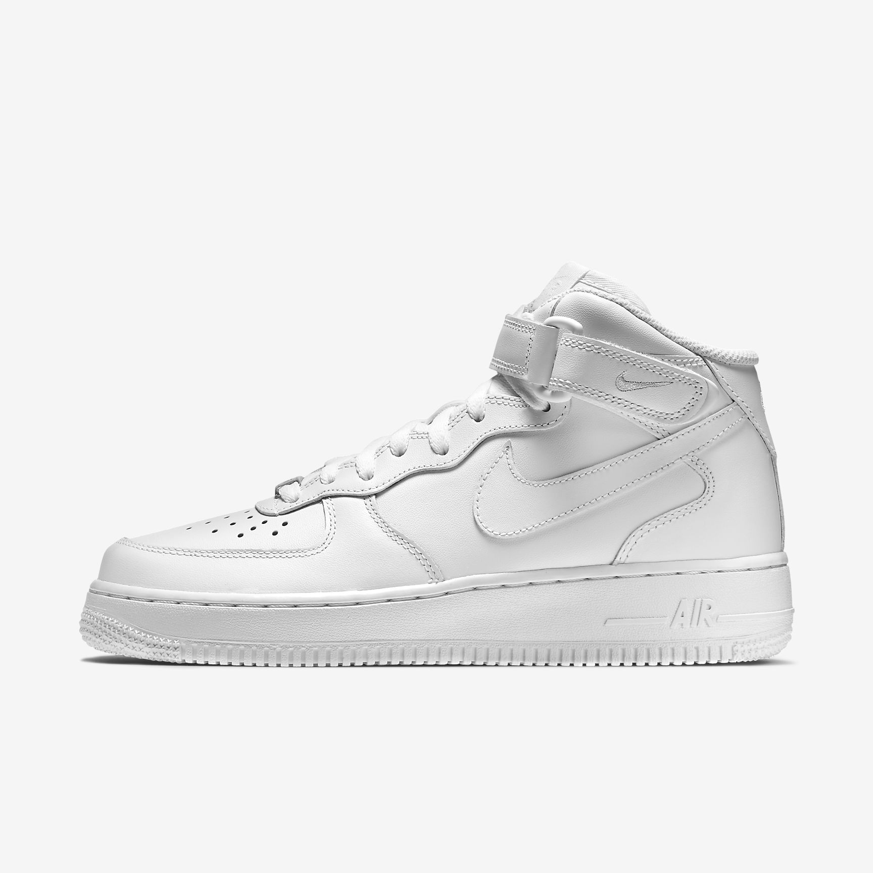 White Nike Air Force 1 Mid