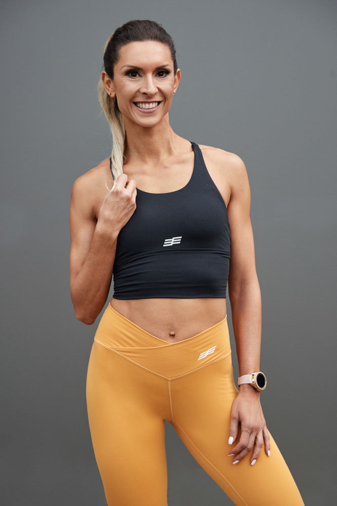 Roula stands for her portrait fitness image