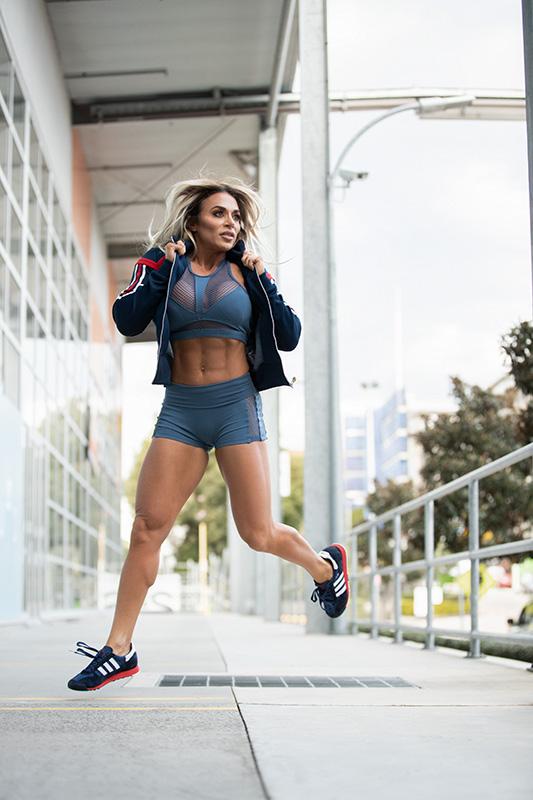 Suzan jogging
