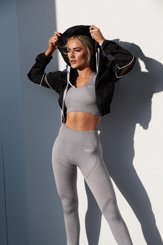 Alex Queenesland female fitness model wearing puma hoodie