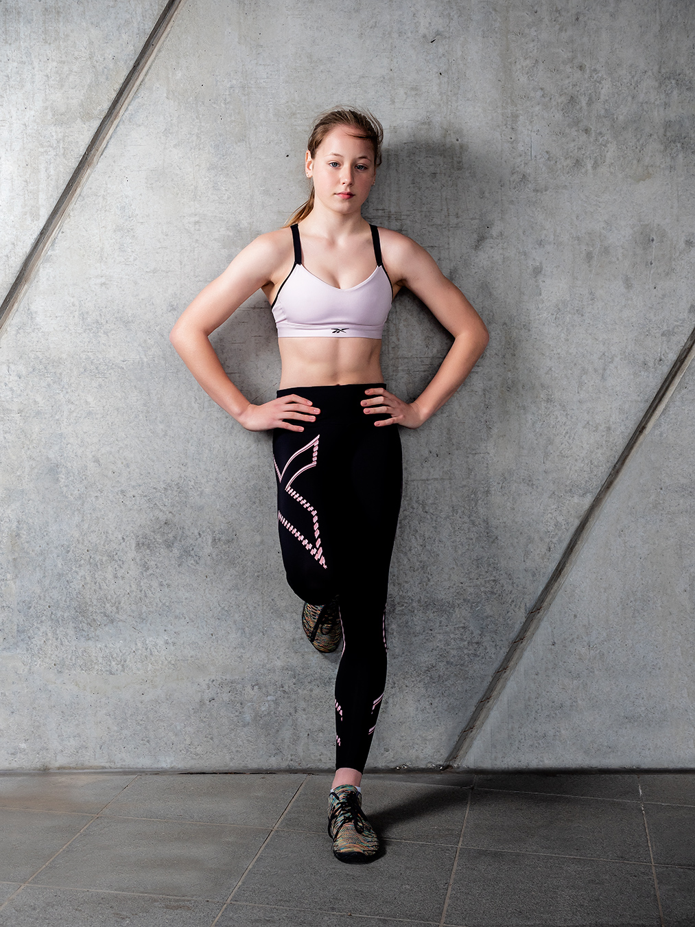 Melbournes Elite Fitness Teen Gymnast Alyssa during her Professional Fitness portfolio shoot