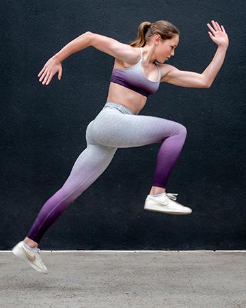 Melbournes Elite Gymnast Alyssa sprinting