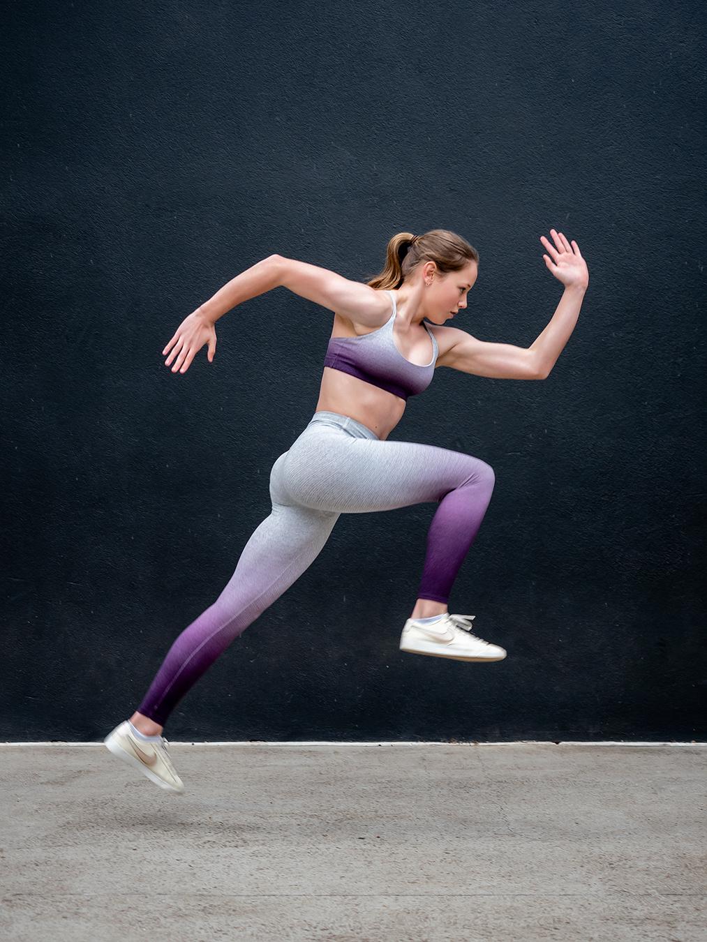Melbournes Elite Gymnast Alyssa sprintng