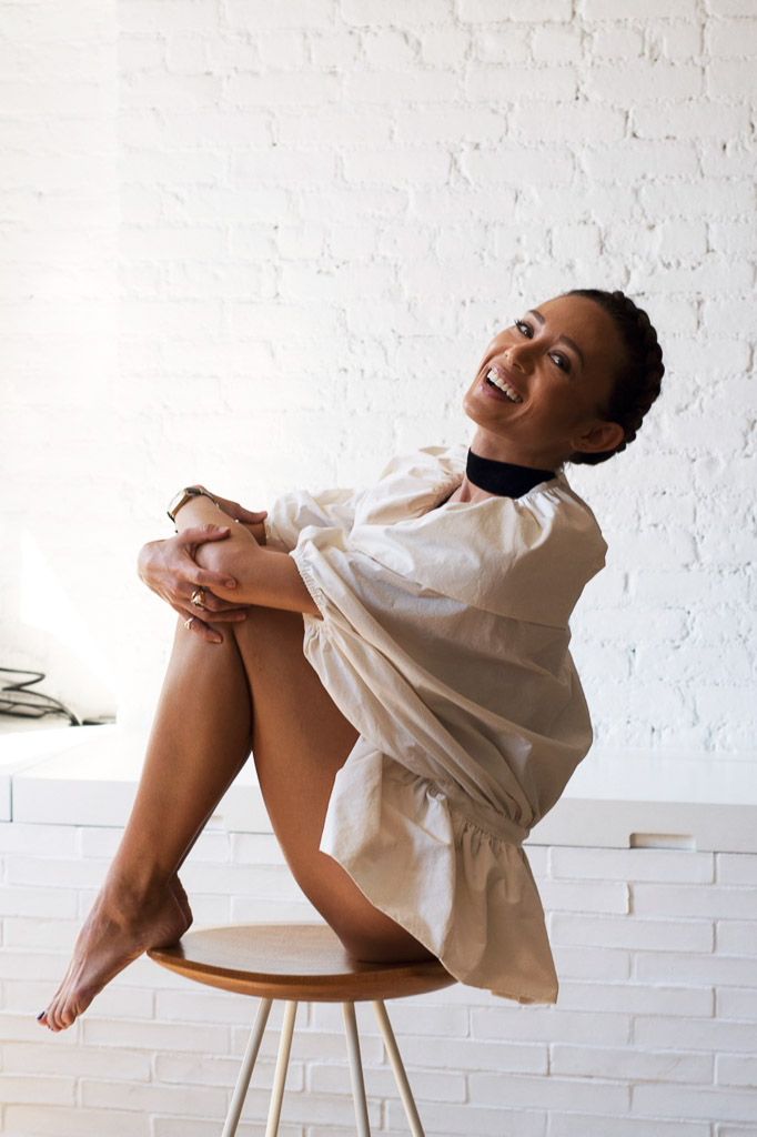 Aiko Gold Coast Yoga and Pilates instructor sitting
