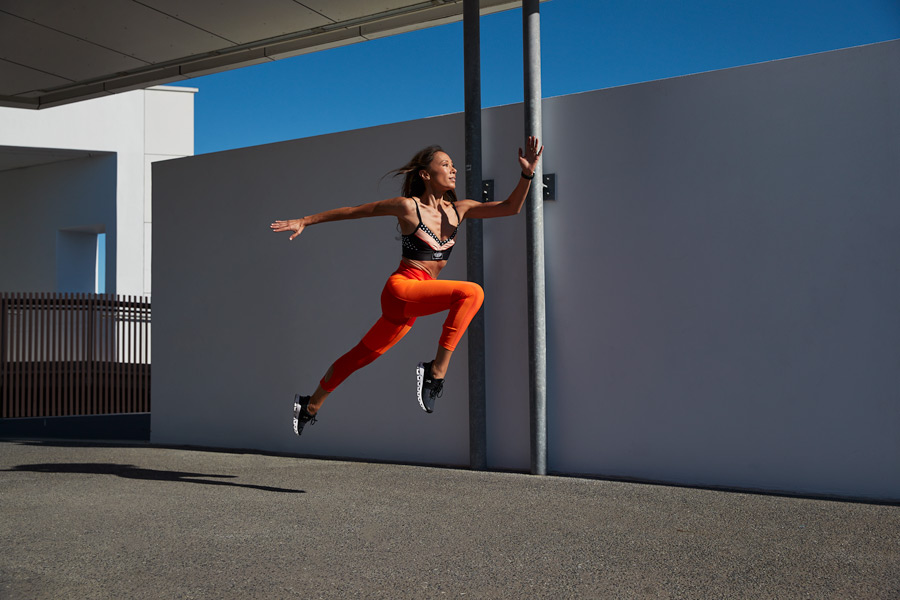 Aiko Queenslands fitness yoga specialist jumping