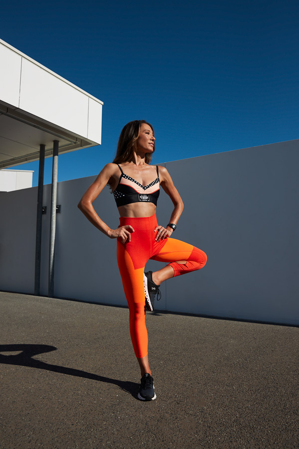 Aiko Queenslands fitness yoga specialist standing on one leg