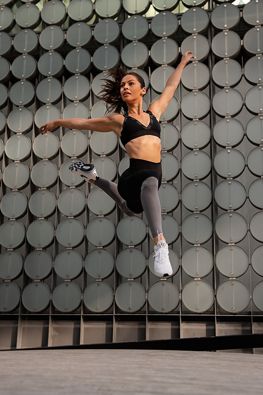 Elly Melbourne young female dancer jumping