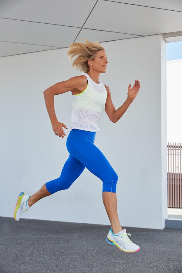 Queenslands mature female fitness model Belinda running