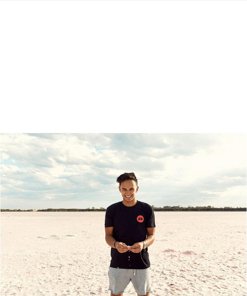 Red Bulls Luis on the beach