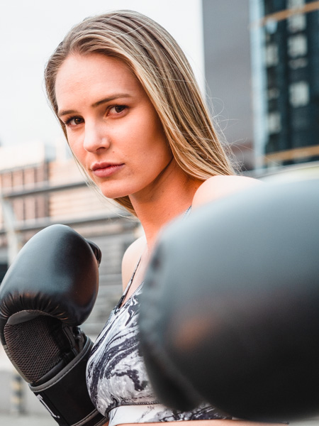 Ruby Melbourne female fitness model boxing 1